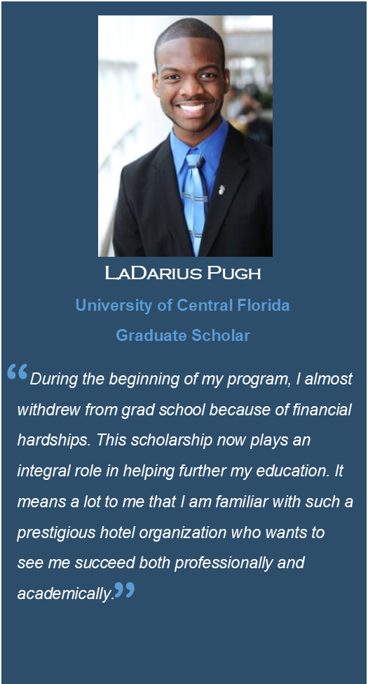 Photo of LaDarius Pugh, Scholarship Recipient