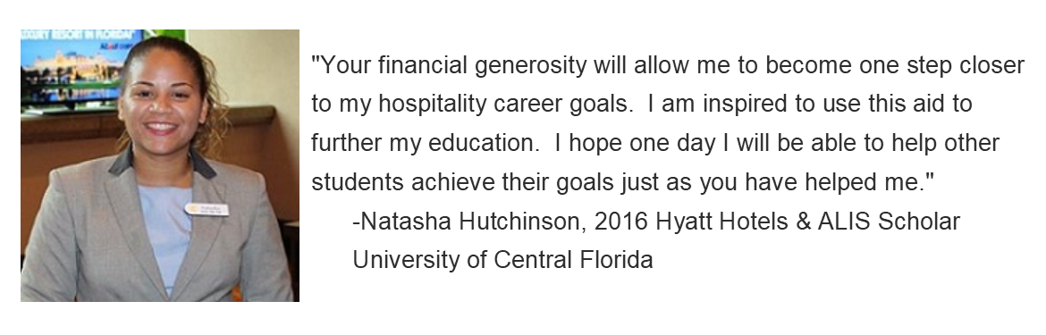 Testimonial Quote from Scholarship Recipient